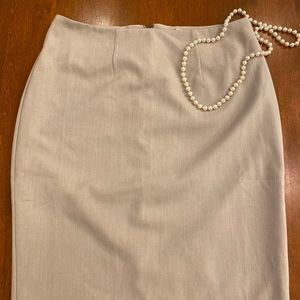 Beige dress skirt